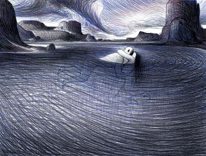 Nell'acqua - Notturno