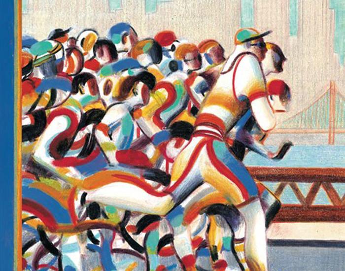 Lorenzo Mattotti: Maratona (copertina del New Yorker)